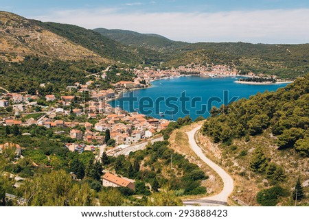 Beautiful city of Vis, Dalmatia, Croatia - stock photo