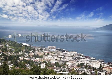 Beautiful city view of astoria - stock photo