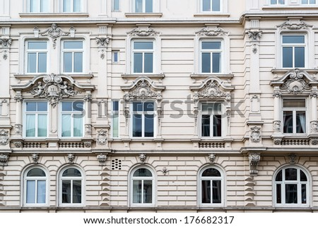 Beautiful classic facade of a building in Schanzenviertel, Hamburg, Germany - stock photo