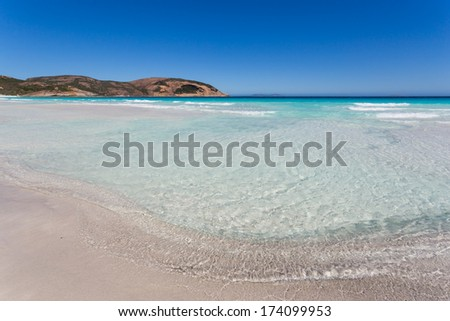 Beautiful clear sea for swimming in Esperance, Australia - stock photo