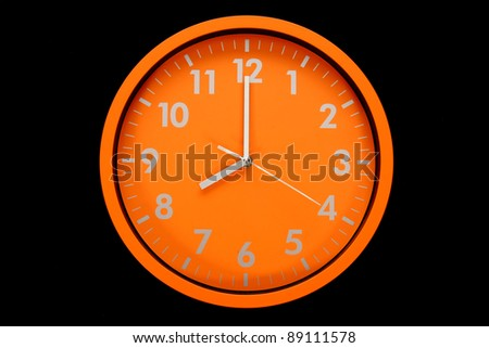 beautiful clock on the wall, 8a.m, 8p.m. - stock photo