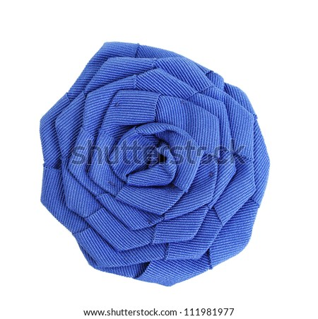 beautiful cloth artificial flower isolated on white - stock photo