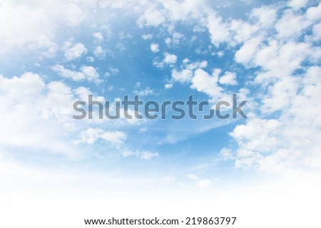 beautiful cloud and solar sky as illustration summer  - stock photo