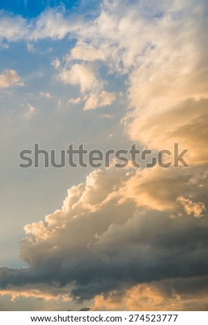 Beautiful cloud and sunbeam - stock photo