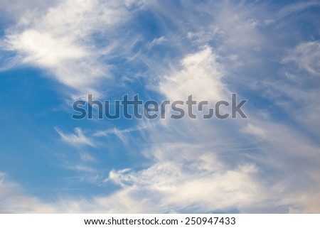 beautiful clouds at sunset - stock photo
