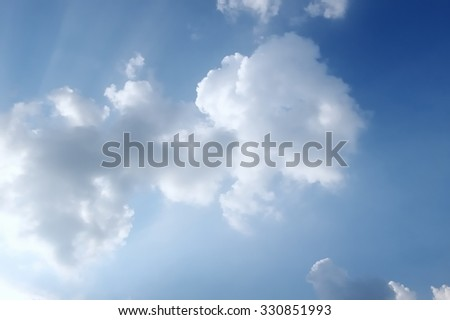 Beautiful Clouds  in cloudscape with the blue sky - stock photo