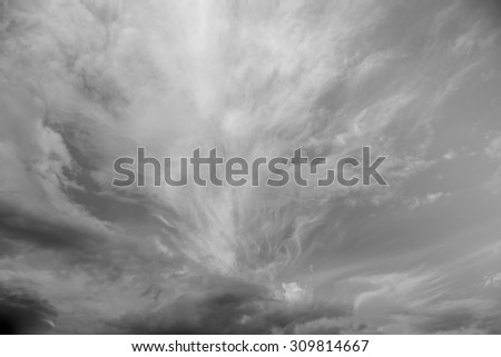 Beautiful Clouds in cloudscape with the blue sky / Beautiful Clouds,black and white - stock photo