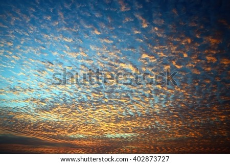 Beautiful  cloudscape in sunrise - stock photo
