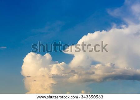 Beautiful Cloudy blue sky background - stock photo