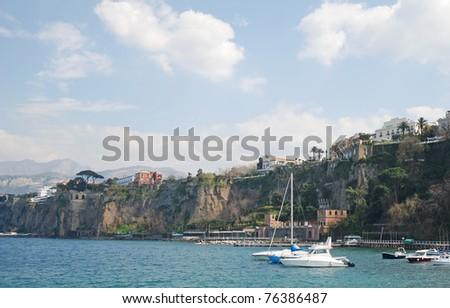Beautiful coastal italian town Sorrento - stock photo