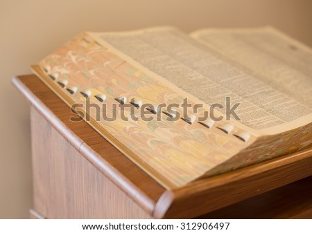beautiful color of dictionary spine. - stock photo