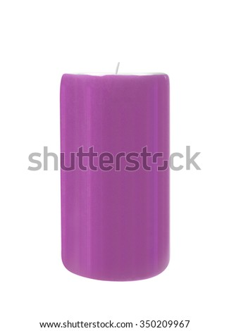 Beautiful colorful candle isolated on white - stock photo