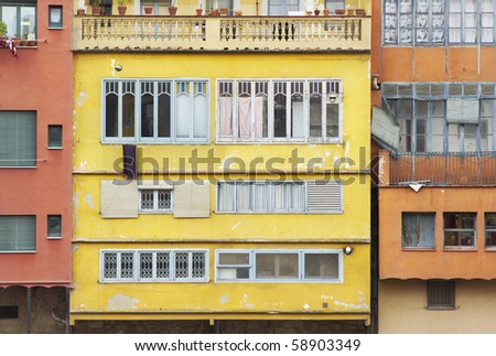Beautiful, colorful mediterranean architecture - stock photo