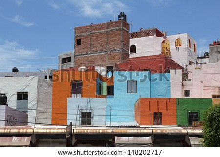 beautiful colorful mexican architecture  - stock photo