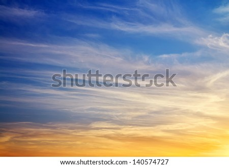 Beautiful colorful sky. Sky background - stock photo