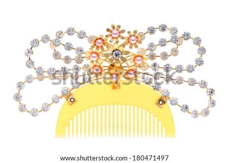 beautiful comb isolated on white background - stock photo