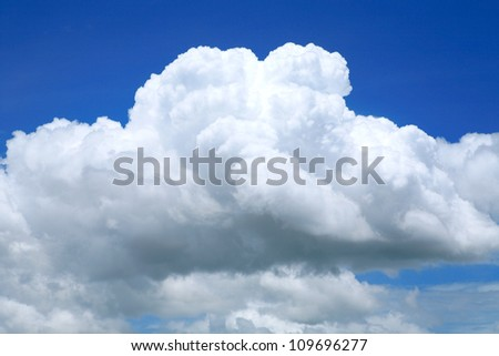 beautiful could and blue sky - stock photo