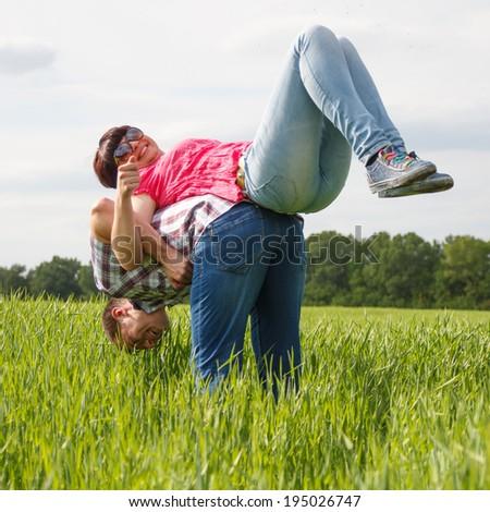 beautiful couple - stock photo