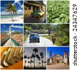 beautiful cuban collage made from eight photographs - stock photo