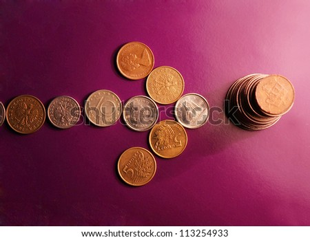 Beautiful currency - stock photo
