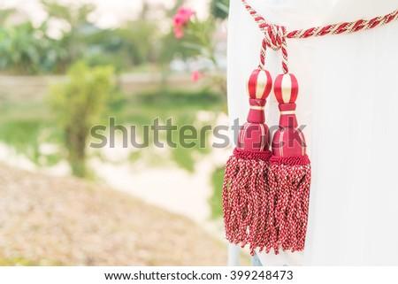 Beautiful Curtain tassel - stock photo