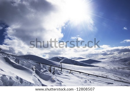 Beautiful day for skiing - stock photo