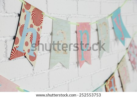 Beautiful decoration for birthday party - stock photo