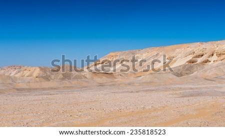 Beautiful desert landscape in Egypt - stock photo