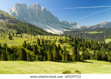 Beautiful dolomites alps landscape - stock photo