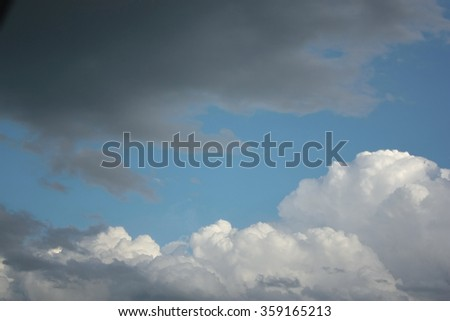 Beautiful dramatic sky with clouds - stock photo