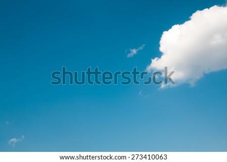 Beautiful dramatic sky with sun rays. - stock photo