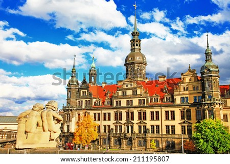 beautiful Dresden, Germany - stock photo