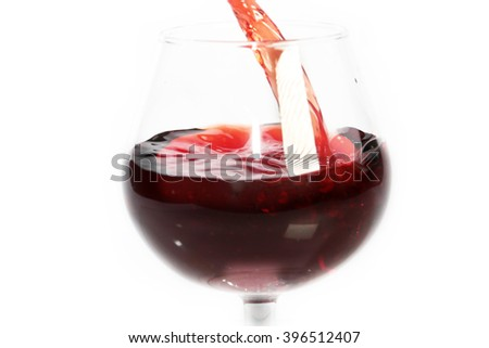 Beautiful drops and splashes of wine - stock photo