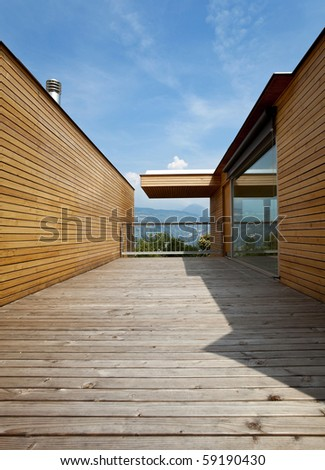 beautiful ecologic house - stock photo