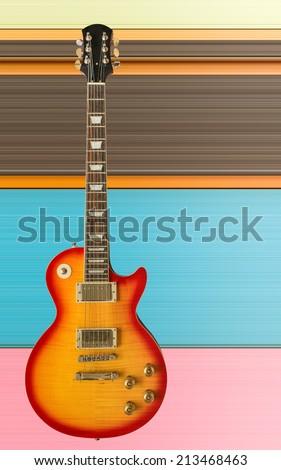Beautiful electric guitar. - stock photo