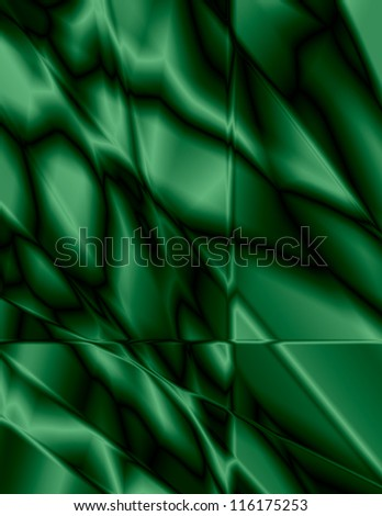 Beautiful emerald green stained glass effect, great for background. - stock photo