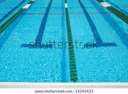 Beautiful empty swimming pool - stock photo