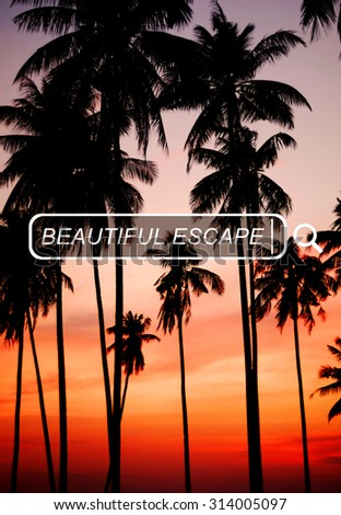 Beautiful Escape Enjoyment Carefree Freedom Concept - stock photo