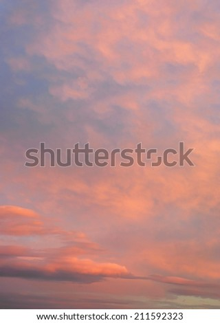 Beautiful evening sky with clouds - stock photo