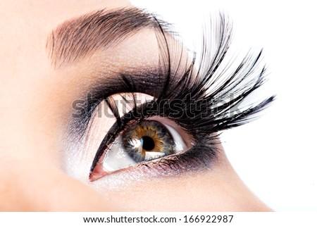 Beautiful Eye Makeup.Wellness, cosmetics and make-up. Holiday visage - stock photo
