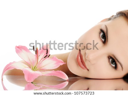 beautiful face - stock photo