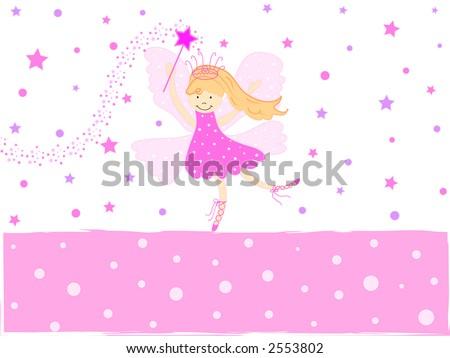 Beautiful fairy with stardust - stock photo