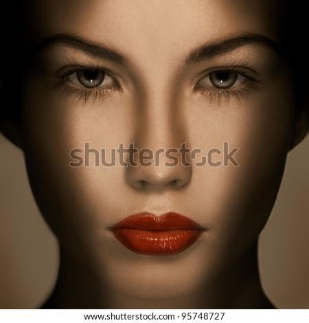 Beautiful Fashion Luxury Makeup - stock photo