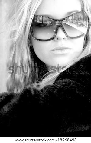 beautiful fashion model portrait - stock photo