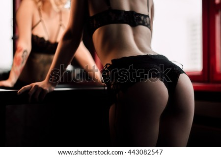 Beautiful female body part. Sexy female buttocks . Beautiful female slim body.Beauty part of female body. Woman's shape with clean skin. Healthy lifestyle, fitness - stock photo