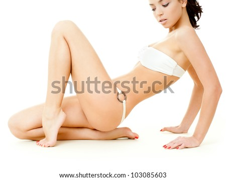 beautiful female figure - stock photo