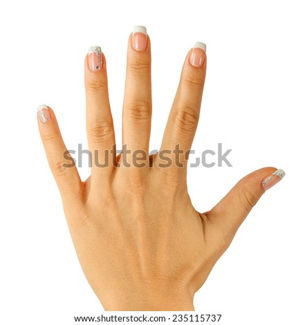 Beautiful Female Hands. Manicure and skin care concept - stock photo