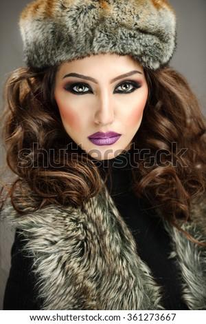 Beautiful female model - stock photo