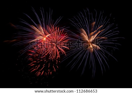 Beautiful firework - stock photo