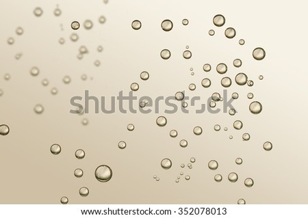 Beautiful fizz bubbles - stock photo